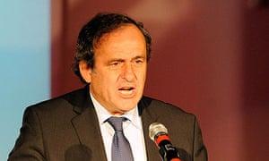 Uefa's president Michel Platini
