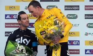 Chris Froome, right, believes his team-mate Richie Porte is a contender for a podium place at this y