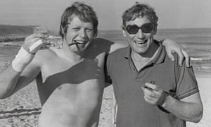 Willie John McBride (right) with Gordon Brown on the Lions tour of South Africa in 1974.