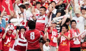 Japan celebrate victory with their fans in Tokyo
