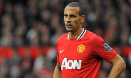 Manchester United's English defender Rio