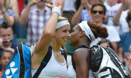 Sabine Lisicki and Serena Williams