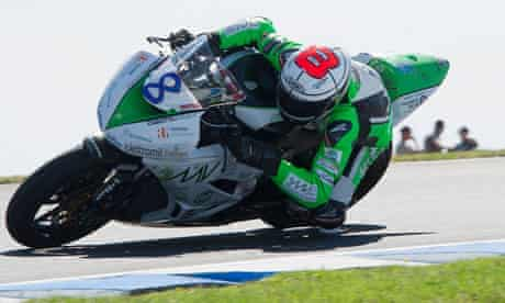 Andrea Antonelli, in action during the Supersport FIM World Championship at Phillip Island