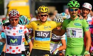 Chris Froome, Nairo Quintana and Peter Sagan