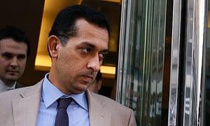 Mahmood al-Zarooni leaves the BHA disciplinary hearing in London