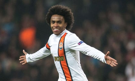 Willian joined Anzhi Makhachkala from Shakhtar Donetsk for £30m last January but is now for sale