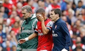 Kieran Gibbs Arsenal's defeat to Aston Villa