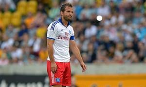 Rafael van der Vaart was subbed and jeered during Hamburg's 5-1 home defeat to Hoffenheim