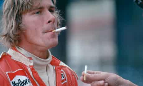 James Hunt's training regime was essentially confined to 'champagne and Marlboros and shagging'