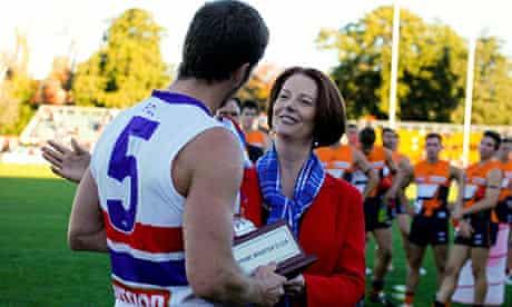 Julia Gillard and Matthew Boyd