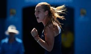Dominika Cibulkova at the Australian Open