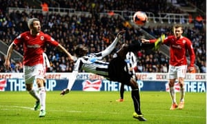 Newcastle United's Papiss Cissé against Cardiff City in the FA Cup third round at St James' Park