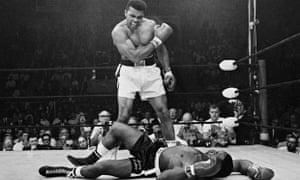 Muhammad Ali drops Sonny Liston