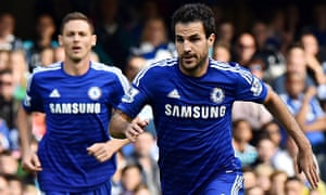 When Cesc Fàbregas's name was announced at Stamford Bridge it was met with a chorus of Arsenal boos.