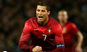 Portugal's Cristiano Ronaldo was on familiar territory at Old Trafford for the game with Argentina.