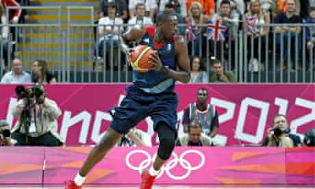 Great Britain Luol Deng in action during the London Olympics