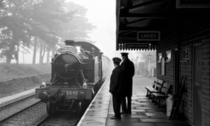 A special steam train arrives at the racecourse