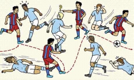 Illustration of Xavi for Barney Ronay column