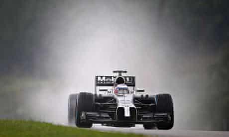 Jenson Button in his McLaren in Malaysia