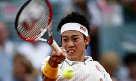 Kei Nishikori shows the form that had Rafael Nadal reeling before the Japanese player had to retire.