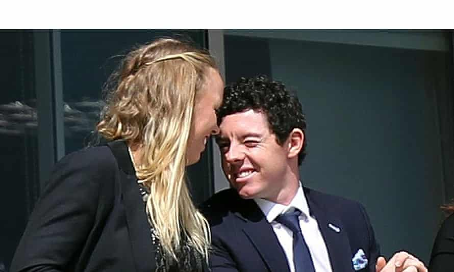 Rory McIlroy, right, and Caroline Wozniacki were expected to get married in New York