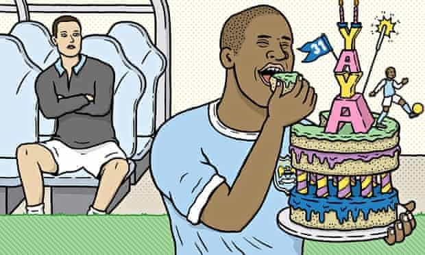 Yaya Toure and birthday cake
