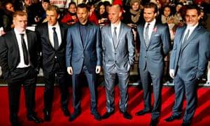 Scholes, Neville, Giggs, Butt, Beckham and Neville