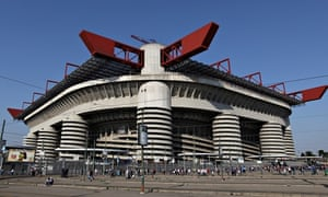 The Stadio Giuseppe Meazza in San Siro, Milan