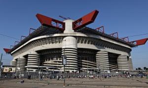 The Stadio Giuseppe Meazza in San Siro, Milan