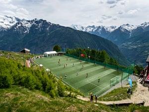 alpine football pitch