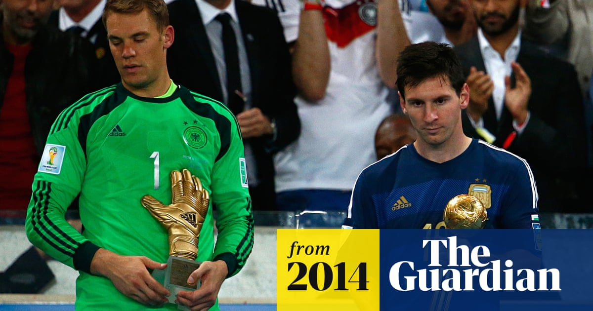 Diego Maradona Lionel Messi Winning Golden Ball Is A Marketing Plan World Cup The Guardian