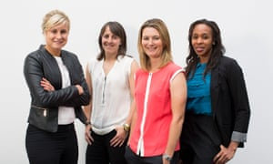 Left to right: Steph Houghton, Katie McLean, Charlotte Edwards, Pamela Cookey