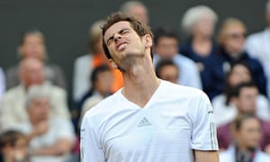 Murray dismount … Andy Murray at Wimbledon 2014.