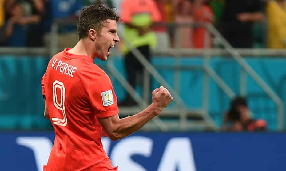 Netherlands' forward Robin van Persie ce