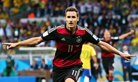 Miroslav Klose celebrates