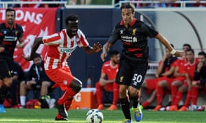 Lazar Markovic of Liverpool during the International Champions Cup match against Olympiacos.