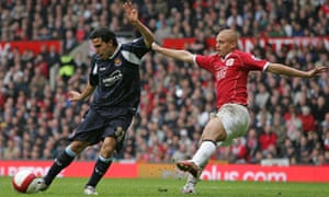 Carlos Tevez scored the only goal against Manchester United to relegate Sheffield United in 2007.