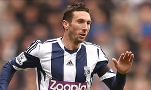 Morgan Amalfitano prefers to play just behind the striker although West Brom used him on the right.