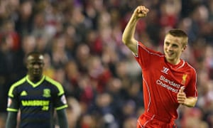 Jordan Rossiter of Liverpool celebrates