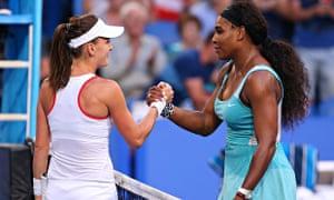 Serena Williams and Agnieszka Radwanska
