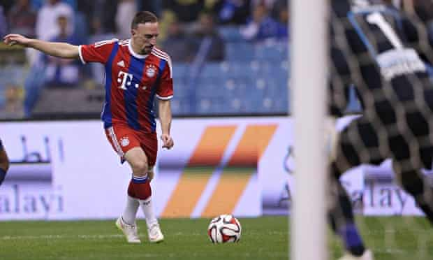 Franck Ribéry in action