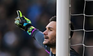 Hugo Lloris in action for Spurs