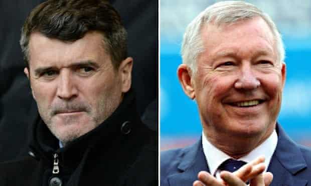 Roy Keane and Sir Alex Ferguson