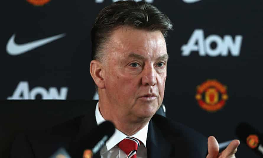 Manager Louis van Gaal of Manchester United