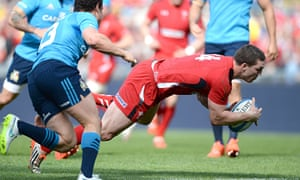 George North, right: Italy v Wales