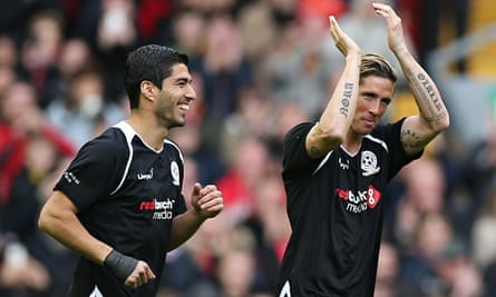Luis Suarez and Fernando Torres returned to Anfield