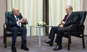 Russian President Vladimir Putin and Sepp Blatter