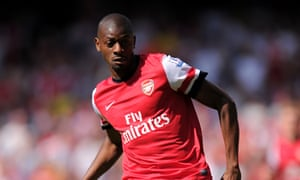 Abou Diaby in action for Arsenal in August 2012