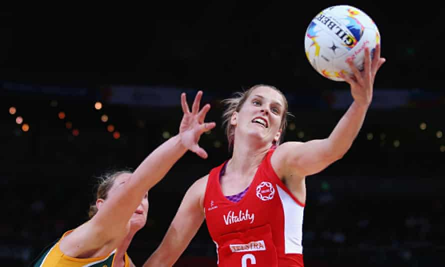 England's Sara Bayman attempts to gain possession during the victory over South Africa.