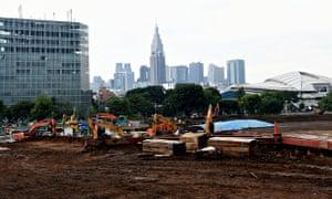 New National Stadium Tokyo construction site